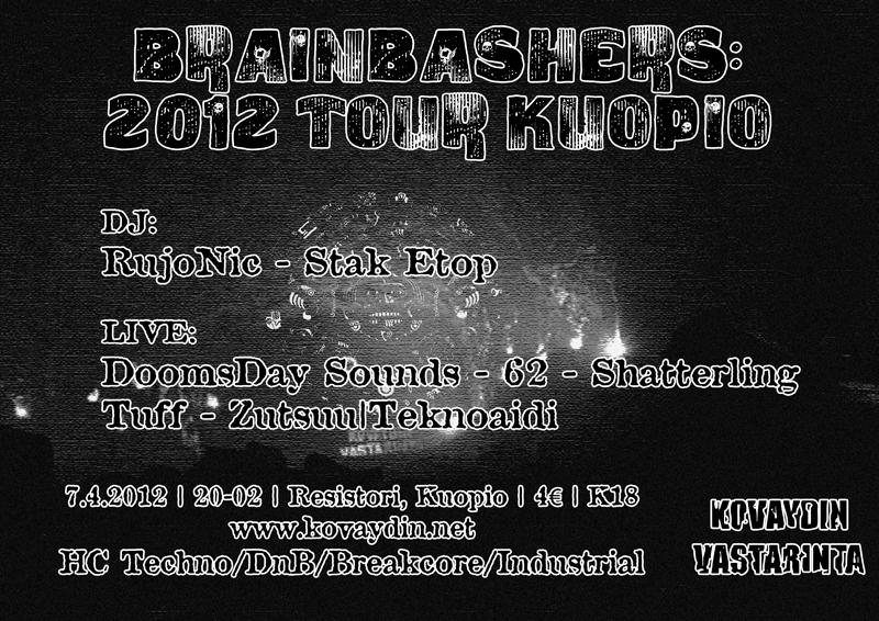 07.04.2012 Brainbashers: 2012 Tour @ Kuopio @ Resistori, Kuopio (FI)