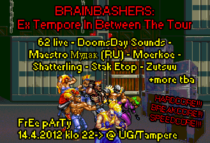 14.04.2012 Brainbashers: Ex Tempore In Between The Tour @ UG, Tampere (FI)