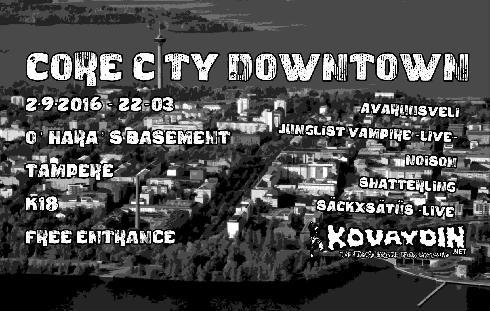 Core City Downtown, 2.9.2016 @ O'Hara's Freehouse / Tampere