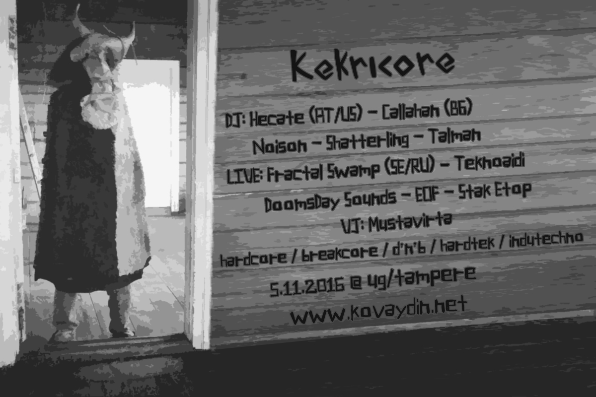 Kekricore, 5.11.2016 @ UG / Tampere