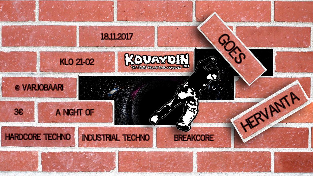 Kovaydin.NET Goes Hervanta, 18.11.2017 @ Varjobaari / Tampere