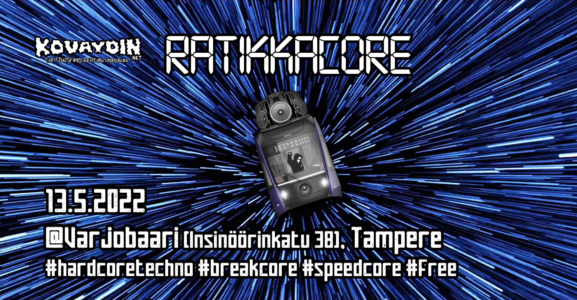 Ratikkacore, 24.9.2021 @ Varjobaari / Tampere